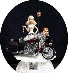 Wedding Cake Topper w/diecast Bl and Re Springer by YourCakeTopper, $64.88