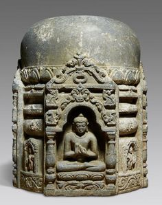 A stone stupa drum Northeastern India, Pala period, 11th/12th century