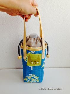 chick chick sewing: Insulated Water Bottle Carrier (from my new zakka…