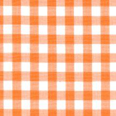 Orange 1/4 Inch Gingham - Discount Fabrics