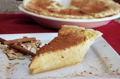 South African Melktert (Milk Tart) with Almond Milk (Use paleo pie crust) South African Desserts, South African Recipes, Paleo Pie Crust, Melktert, Bangers And Mash, Almond Breeze, Flaky Pastry, Tasty Kitchen, How To Make Salad