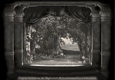 """"""" Parsifal """" 1.Aufzug 1.Bild  1882 Bühnenphoto"""