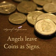 Angels leave coins as signs they are with you . find a penny, pick it up and all day you'll have good luck! Messages From Heaven, Signs From Heaven, Must Be Heaven, Pennies From Heaven, Angel Quotes, I Believe In Angels, Angels In Heaven, Heavenly Angels, My Guardian Angel