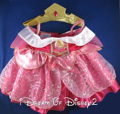 BUILD-A-BEAR DISNEY SLEEPING BEAUTY PRINCESS AURORA TEDDY COSTUME OUTFIT NEW #BUILDABEARWORKSHOPDISNEY