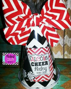 Personalized Cheer Megaphone #rebelchickdesigns #personalized #monogrammed…