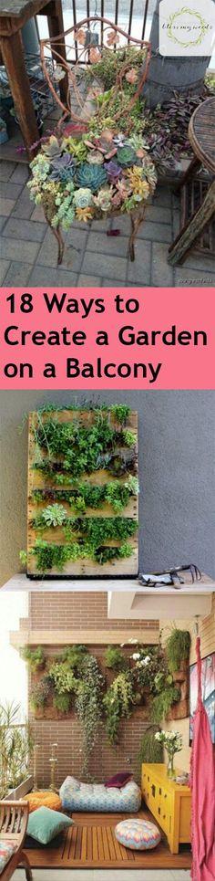 Gardening, How to Garden in Small Spaces, Balcony Gardens, Small Space Gardening Tips, How to Grow a Garden on a Balcony, Gardening 101, Gardening Tips and Tricks, Gardening In Apartments, Apartment Gardening, Popular Pin