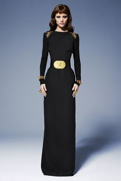 """It would appear I'm aching for a """"sexy lady in mourning"""" look this year. Versace 2013"""