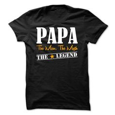 PAPA The Man, The Myth, The Legend - Limited Edition -  - #hoodie fashion #blue sweater. HURRY:   => https://www.sunfrog.com/Names/PAPA-The-Man-The-Myth-The-Legend--Limited-Edition--Not-Available-in-Store--Dont-Miss-Out.html?id=60505