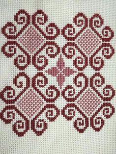 Cross Stitch Boarders, Cross Stitch Bookmarks, Simple Cross Stitch, Cross Stitch Rose, Cross Stitch Flowers, Cross Stitching, Swedish Embroidery, Hardanger Embroidery, Cross Stitch Embroidery