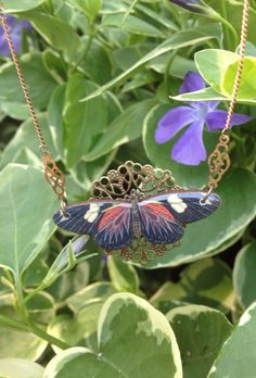 Just added this pretty butterfly necklace to my shop!