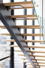 Resultado de imagen de interior single tread metal stairs