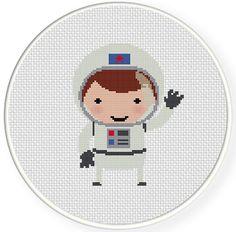 INSTANT DOWNLOAD Stitch Astronaut PDF Cross Stitch Pattern Needlecraft