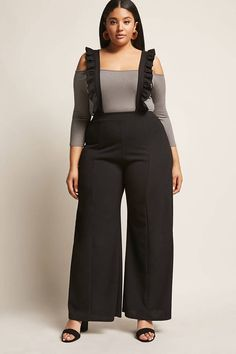 Product Name:Plus Size Ruffle Jumpsuit, Category:CLEARANCE_ZERO, Price:38