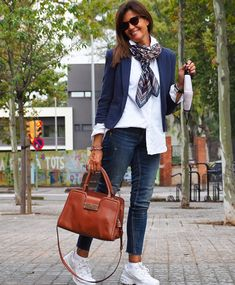 60 Fashion, Cool Street Fashion, Vogue Fashion, Denim Fashion, Street Style, Fashion Outfits, Womens Fashion, Fashion Trends, Classic Outfits For Women