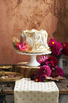 Pumpkin Spice Cake: If you can't make a crumb coating to save your life, just cover the whole cake with a gooey marshmallow topping instead. Click through for more pumpkin cakes that everyone will love.