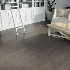 Contemporary Wood Flooring Grey