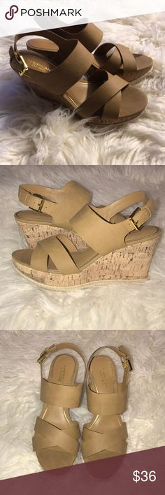 1c9475529a3 Shop Women s American Living Tan Gold size Sandals at a discounted price at  Poshmark.