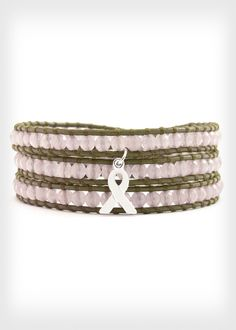 Half of the net proceeds from this pink beaded bracelet will benefit Breastcancer.org. Check out more awesome products that support breast cancer awareness efforts, here: http://www.womenshealthmag.com/life/breast-cancer-awareness-merchandise-2013