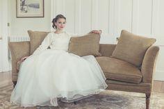 Silk mohair jumper and organza wedding skirt by Christine Trewinnard.