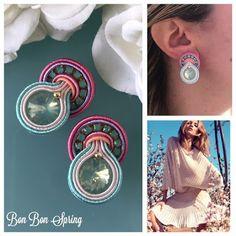 Veronique Creazioni Soutache Earrings, Shibori, Class Ring, Jewerly, Jewelry Making, Embroidery, My Favorite Things, Veronica, Beading