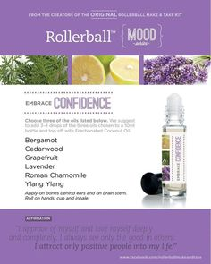 Essential oil roller bottle recipe to embrace confidence.