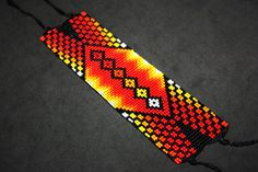 Nativo americano con cuentas pulsera con por BiuluArtisanBoutique Seed Bead Patterns, Beading Patterns, Willow Weaving, Beaded Bracelets, Beaded Jewelry, Jewellery, O Design, Native American Beadwork, Beading Projects