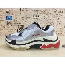 9e33c1096d0f Balenciaga Triple S Sneaker - Chaussures Balenciaga Triple S Sneaker Argent  Rouge Balenciaga Pas Cher