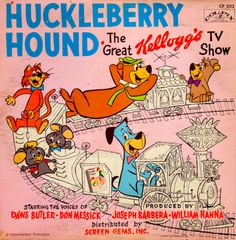 Premiering in 1958 syndicated program The Huckleberry Hound show was originally sponsored by Kellogg's cereal. Co-starring Pixie and Dixie with their antagonist Mr. Jinx Huckleberry Hound also promoted another young star named Yogi Bear. It would later be Yogi whom with Boo-Boo, the Flintstones and Jetsons amongst others, helped give Hanna-Barbera productions its lasting legacy.