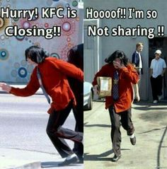 What the heck is it with all these KFC memes??? I told you... MICHAEL JACKSON IS A VEGITARIAN!!!!