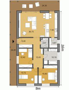 Bungalow House Plans, Small House Plans, House Floor Plans, House Layout Plans, House Layouts, Contemporary House Plans, Modern House Plans, Casa Loft, Apartment Floor Plans