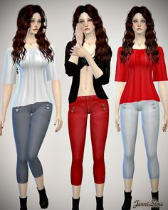 Jeans set at Jenni Sims via Sims 4 Updates