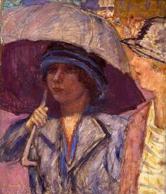 amare-habeo:  Pierre Bonnard(French, 1867 - 1947) Woman with Umbrella (Femme a l'Ombrelle), N/DRichard Nathanson Impressionist & 20th Century Art
