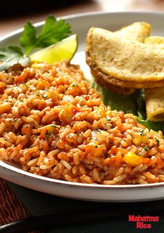 Whole Grain Spanish Rice: A traditional favorite made with whole grain brown rice, Mexican-style tomato sauce, fresh cilantro, and lime juice. Perfect for a Cinco de Mayo fiesta!