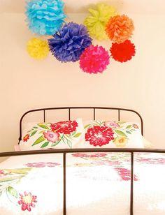 Pompom-Blumen aus Servietten und viele andere metoden