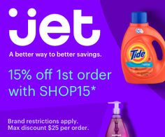 Jet.com – 15% OFF Coupon + Free Shipping! – USA Get This Offer: http://www.freestuffcloud.com/jet-com-15-off-coupon-free-shipping.html #Jetcom #15OFFCoupon #FreeShippingUSA