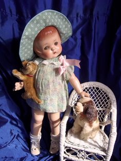 Vintage Effanbee composition Patsy Ann doll.