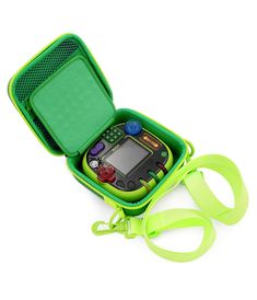 CASEMATIX Green Toy Box Case Compatible with Leapfrog Rockit Twist Handheld Learning Game System , Includes Shoulder Strap *** Click image to review more details. (This is an affiliate link)