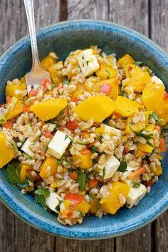 Roasted Squash & Farro Salad with Feta