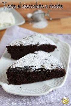 Chocolate and ricotta cake, Queso Ricotta, Ricotta Cake, Chocolate Cheesecake, Cake Chocolate, Cheesecake Recipes, Sweet Recipes, Bakery, Food And Drink, Sweets