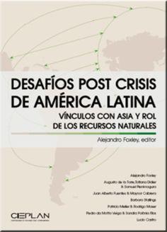 Desafíos post crisis de América Latina: vínculos con Asia y rol de los recursos naturales (PRINT VERSION). http://biblioteca.cepal.org/record=b1252134~S0*spi El camino escogido por la mayor parte de los países de América Latina para dinamizar sus economías, con apertura comercial y TLC con algunos de los socios más relevantes, ha sido un buen punto de partida para un desarrollo más potente a futuro. Estos avances son importantes, pero no suficientes para resolver el problema.