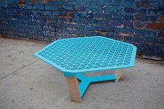 Coffee table designed by New York-based Puerto-Rican designer Carlos Bobonis Colorado.   #design #table #CarlosBobonisColorado
