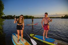 Best paddleboard for beginners to intermediate paddlers with beautiful colors and design. Sports Toys, Paddle Boarding, Stand Up, Friends Family, Ranges, Light In The Dark, Beach, Lighter, Yellow