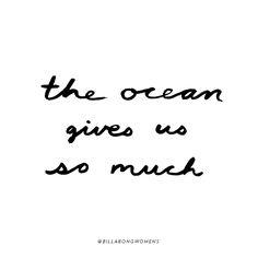 the ocean gives us so much @billabongwomens insp