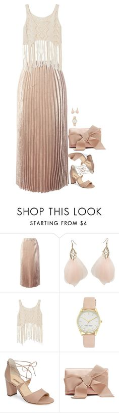 """""""Untitled #7025"""" by miki006 ❤ liked on Polyvore featuring Sans Souci, Wet Seal, Nine West, Paul Green and Oscar de la Renta"""