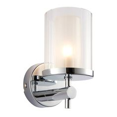 Britton Chrome Finish With Clear And Frosted Glass Bathroom Wall Light 51885 by Endon Lighting. Discover our ranges of Tiffany Lamp, Art Deco and Traditional Lighting, free delivery. Wall Light Fittings, Glass Bathroom, Bathroom Wall Lights, Traditional Bathroom Lighting, Wall Lights, Glass Shades, Bathroom Light Fittings, Bathroom Lighting, Light Fittings