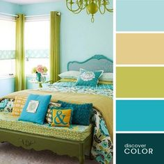 Turquoise color schemes wonderful for neutral bedroom paint colors turquoise color scheme bedroom masculine bedroom colors . Bedroom Turquoise, Bedroom Green, Bedroom Decor, Gold Bedroom, Bedroom Bed, Bedroom Ideas, Design Apartment, Living Room Color Schemes, Bedroom Paint Colors
