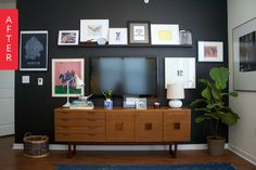 Before & After: A Long Desired Dramatic Accent Wall   Apartment Therapy