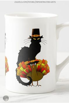 * Thanksgiving Le Chat Noir With Turkey Pilgrim Bone China Mug by #SpoofingTheArts at Zazzle #Gravityx9 * Three style options available for this mug. * Thanksgiving coffee mugs * holiday coffee mug * coffee mugs gift ideas * Thanksgiving coffee mugs gift ideas * Le Chat Noir mug * gift ideas coworker * gift ideas friends * gift ideas adults * gift ideas coffee lovers * #Thanksgiving #Thanksgivingmug #holidaymug #lechatnoir #lechatmug #catmug #Thanksgivingcoffeemug #Fallseasonsbest 0920