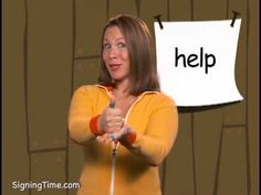 help - Signing Time Sign Language Book, American Sign Language, Asl Signs, World Languages, Vocabulary, Homeschool, Teaching, Education, Autism