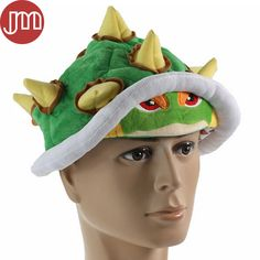 Find More Movies & TV Information about New 1 PCS Super Mario Bros Koopa Bowser Jr. Soft Plush Hat Cosplay Costume Cap…